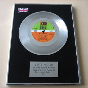 BETTE MIDLER - THE WIND BENEATH MY WINGS PLATINUM Single Presentation DISC